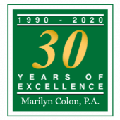 Marilyn Colon Family Law Firm 30 year logo