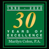 Marilyn Colon Family Law Firm 30 year logo