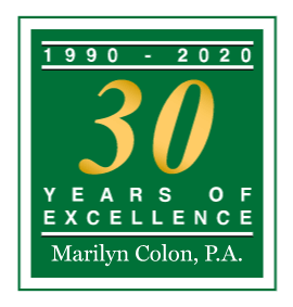 Marilyn Colon Family Law Firm Marital 30 year logo